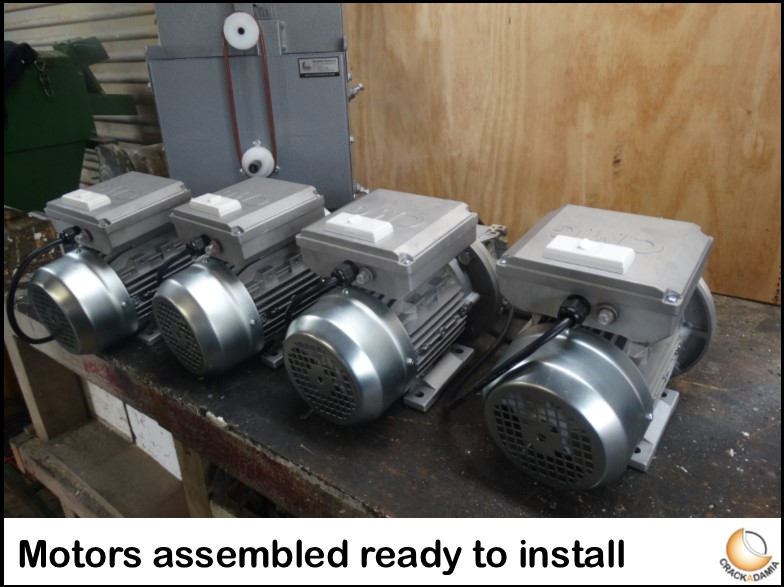 Motors assembled ready to install