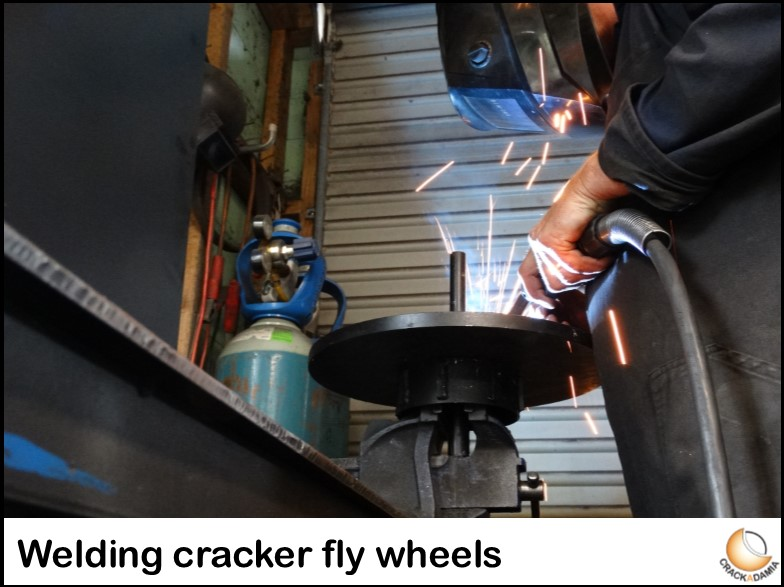 welding cracker fly wheels